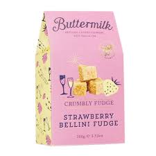 Image of Strawberry Bellini Fudge. From Buttermilk in Padstow.