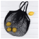 Image of a Black French Style String Shopping Bag
