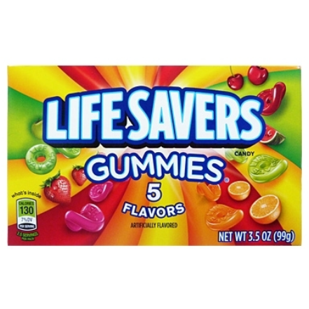 Image of a box of Lifesavers Gummies. American Candy