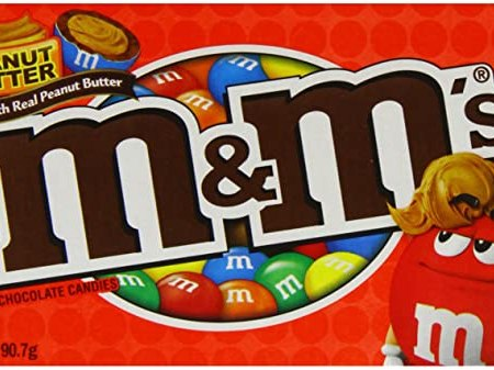 Image of a box of m and m's peanut butter