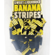 Image of a pack of Banana Stripe Liquorice. From The Black Liquorice Company