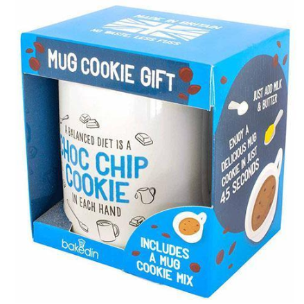 Image off a chocolate chip cookie mug gift set