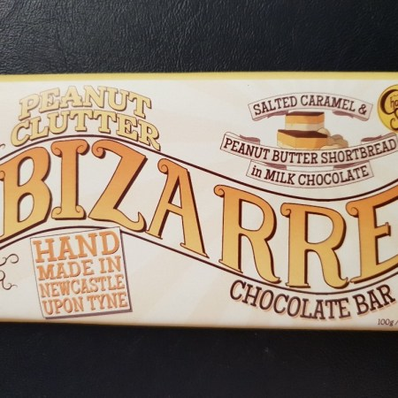 Image of the peanut clutter chocolate bar from the chocolate smiths