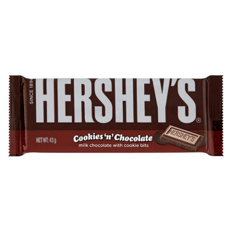 Image of Hersheys cookies n chocolate bar