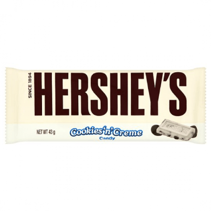 Image of hershey cookies n cream bar