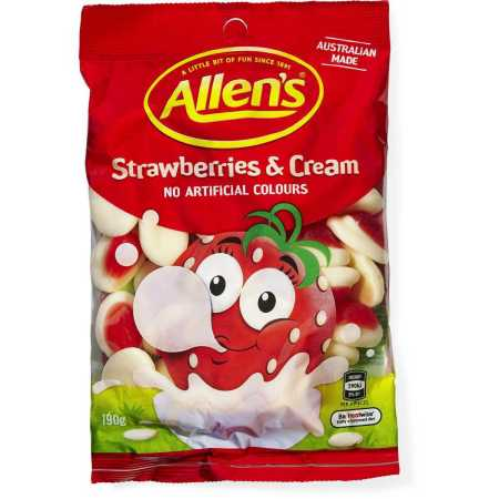 Image of Allens Strawberries and cream jelly sweets