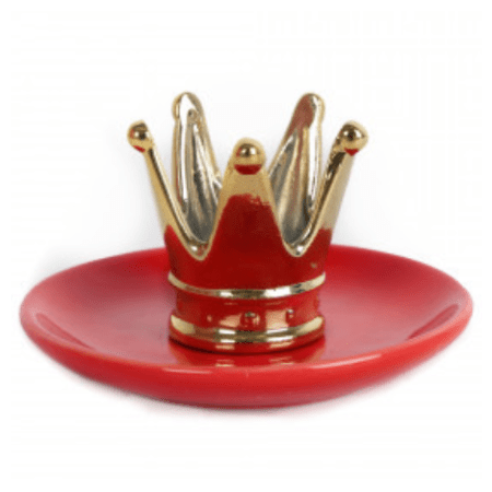 Image of the red and gold crown trinket dish