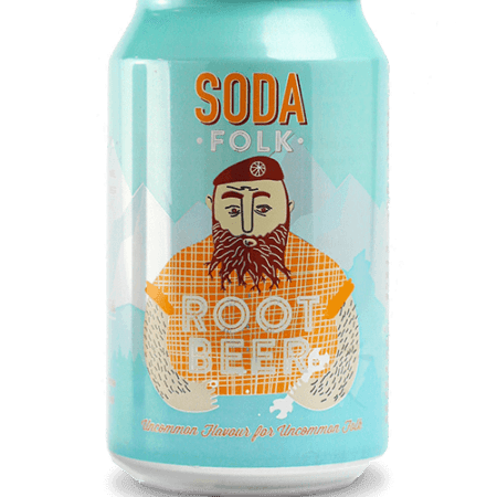 Image of a can of soda folk root beer