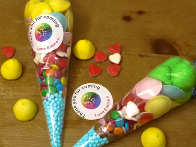 Image of personalised party cones