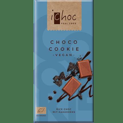 Image of the choco cookie vegan chocolate bar from iChoc