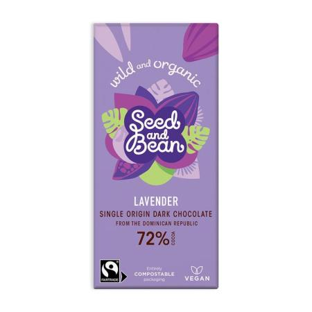 Image of a bar of seed & bean lavender chocolate