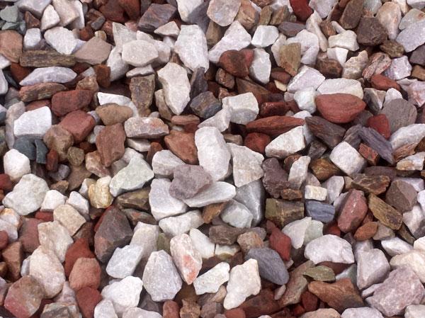 Red Decorative Rocks Landscaping