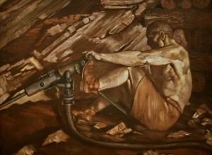 best rockhounding book 2017 picture of man mining gold underground