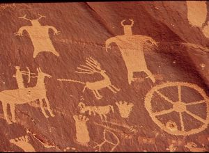 Native american cave art