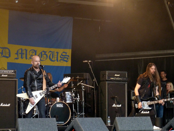 Grand Magus on stage at High Voltage
