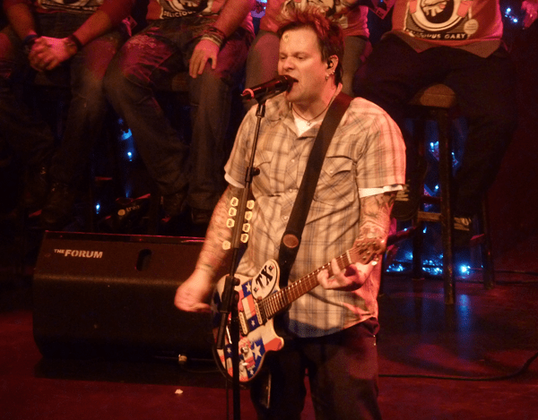 Jaret Reddick from Bowling For Soup on stage at Kentish Town Forum, London