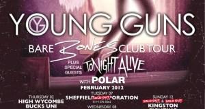 Young Guns Club Tour Poster 2012