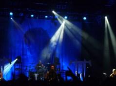 Trivium on stage at Shepherds Bush Empire London Octobner 2012