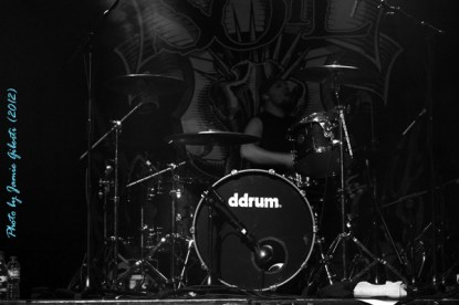 Soil drummer Jon Wysocki on stage at London's Electric Ballroom December 2012 - Photo 1