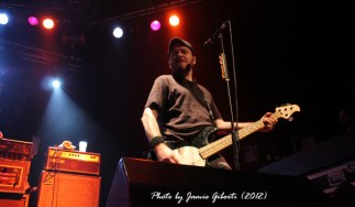 Erik Chandler from Bowling For Soup on stage at Cambridge Junction, October 2012 (second photo)