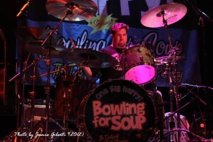 Gary Wiseman from Bowling For Soup on stage at Cambridge Junction, October 2012