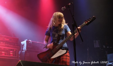 Kelly O from The Dollyrots on stage at Cambridge Junction, October 2012