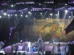 Iron Maiden on stage at Sonisphere Knebworth 2010