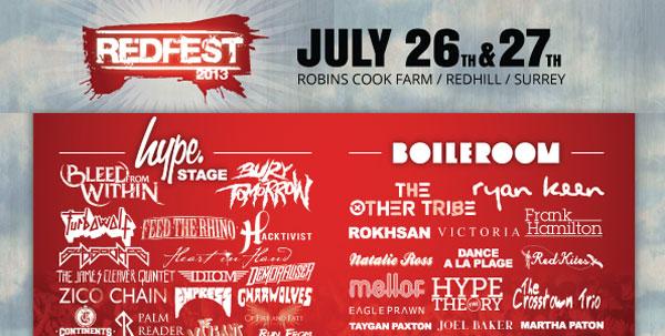 Redfest 2013 Hype Stage Header Banner