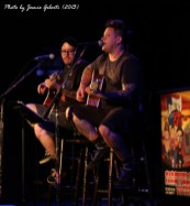 "Jaret & Erik from Bowling For Soup performing ""Almost"" at Union Chapel, London, October 2013"