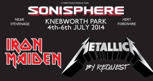 Sonisphere Knebworth 2014 Metallica and Iron Maiden header image