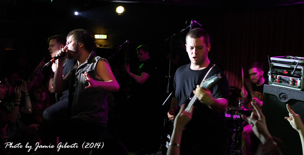 Rise To Remain on stage at The Borderline, London, Feb 2014