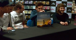 You Me At Six Pose With Cavalier Youth, HMV Glasgow, January 2014