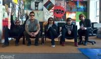Of Mice and Men; l-r Valentino Arteaga, Austin Carlile, Phil Manansala, Aaron Pauley and Alan Ashby