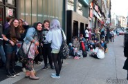 Excited fans started queuing at 6:30am...the store opened at 11am