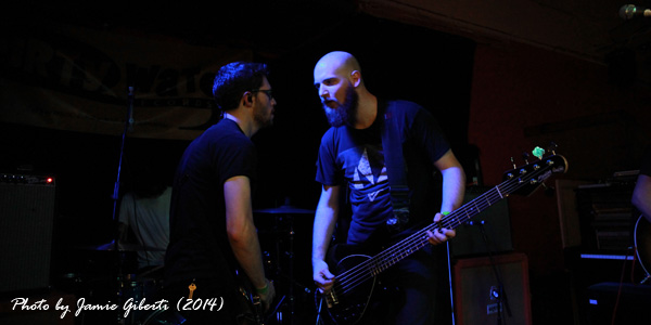 Otto & Alex from Australian post-metal group Sleepmakeswaves performing at Beyond The Redshift Festival 2014 in London
