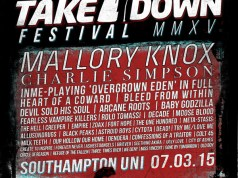 Takedown Festival 2015 Poster inc Heart Of A Coward