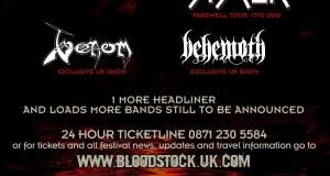 Bloodstock Festival 2016 Twisted Sister Headliner Poster