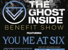 The Ghost Inside Benefit Show YMAS Deaf Havana Your Demise Poster
