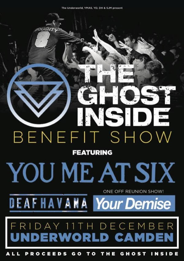 The Ghost Inside Benefit Show YMAS Deaf Havana Your Demise Poster