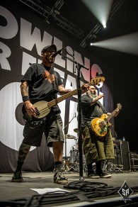 Bowling for Soup on stage at Manchester Arena 18th October 2016