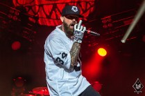 Limp Bizkit on stage at Manchester Arena 12th December 2016