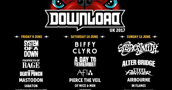 Download Festival 2017 February Line Up Header