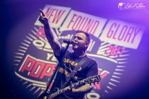 New Found Glory on stage at Wembley Arena London 27th January 2016