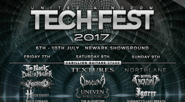UK Tech-Fest 2017 Final Line Up Poster Header Image