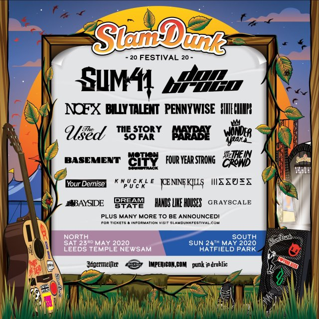 Slam Dunk Festival 2020 Second Line Up Poster