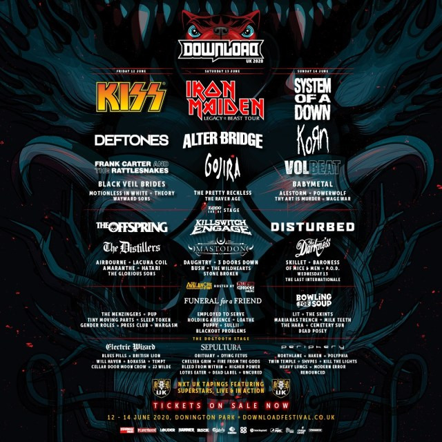 Download Festival 2020 4th Line Up Poster