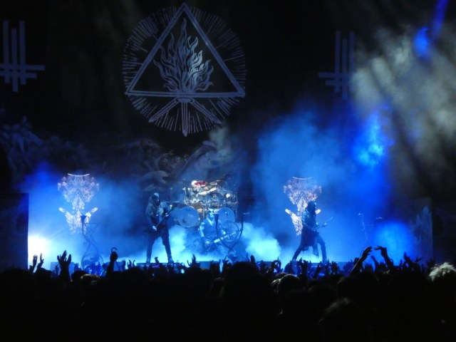 Behemoth on stage at The O2 Arena, London