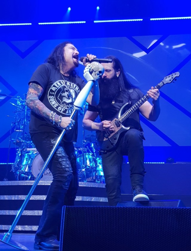 Dream Theater - James Labrie and John Petrucci on stage at London's Hammersmith Apollo, Feb 21st 2020 by Matt Hill
