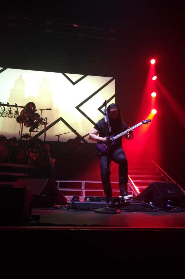 John Petrucci on stage at London's Hammersmith Apollo, Feb 21st 2020 by Jamie Giberti.