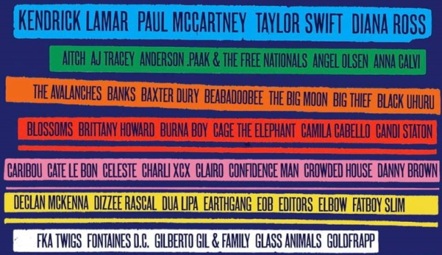 Glastonbury Line Up 2020